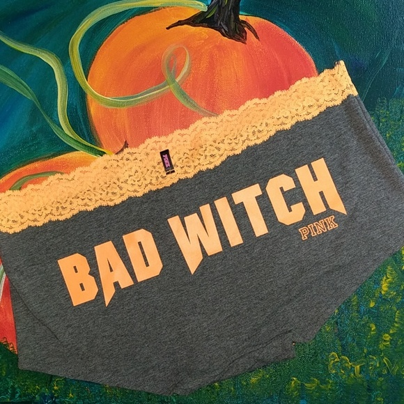ed080a6e5e484 BAD WITCH Halloween panty Boyshort VS Pink Lrg NWT